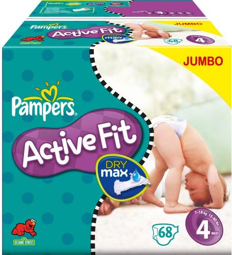 pampers active fit size 3 for 84 nappies size 4 for 136 size 5 for 124. Black Bedroom Furniture Sets. Home Design Ideas