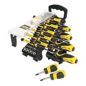 stanley screwdriver set 51pcs screwfix hotukdeals. Black Bedroom Furniture Sets. Home Design Ideas