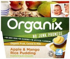 Organix apple&mango rice pudding 25p at Sainsburys instore ...