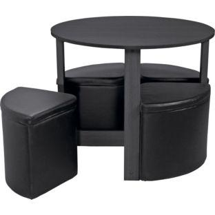 monaco spacesaver dining table and 4 chairs from