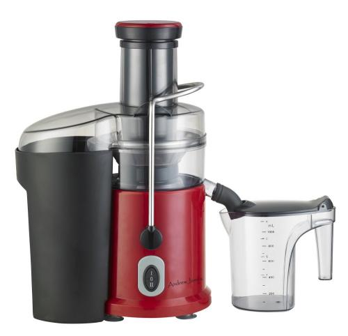 Andrew James Professional Juicer - Stunning Red (includes cleaning brush,froth separator and ...
