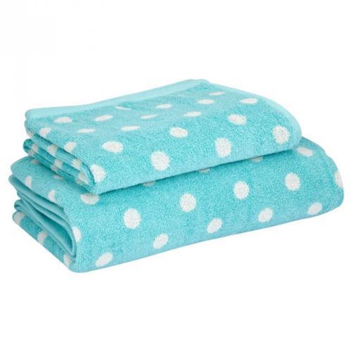 asda large towel spearmint spot 3 asda direct. Black Bedroom Furniture Sets. Home Design Ideas