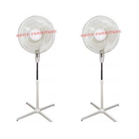 2 X 16 Electric Cooling Oscillating Pedestal Stand Fan 163