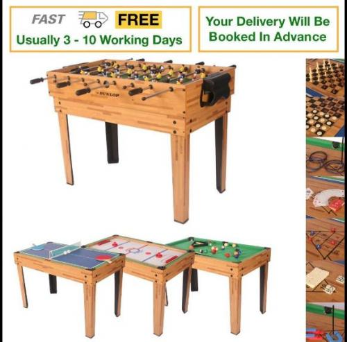 Dunlop 20 in 1 multi game table delivered with for Supreme 99 table game