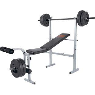 Pro power bench includes barbell and 30kg weights for Maquinas para hacer ejercicio