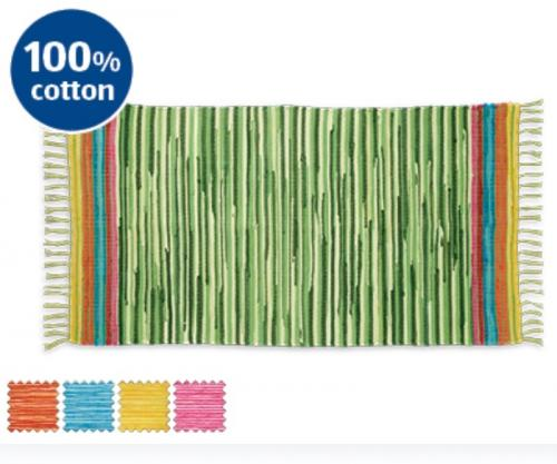 Aldi Chindi Rug £6.99 Five Colours 100% Cotton 70 X 130