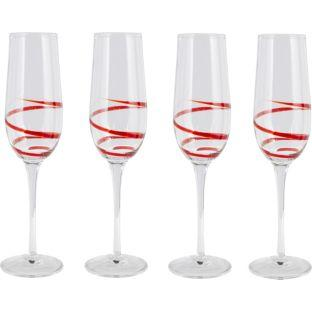 4 piece swirl champagne flute set red or black argos. Black Bedroom Furniture Sets. Home Design Ideas