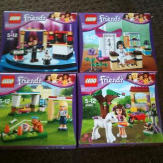 LEGO Friends Stephanie's House with 3 LEGO rush matthew to the scene in his offroader. This auction is for a LEGO Friends Stephanie's House priced at 24 .