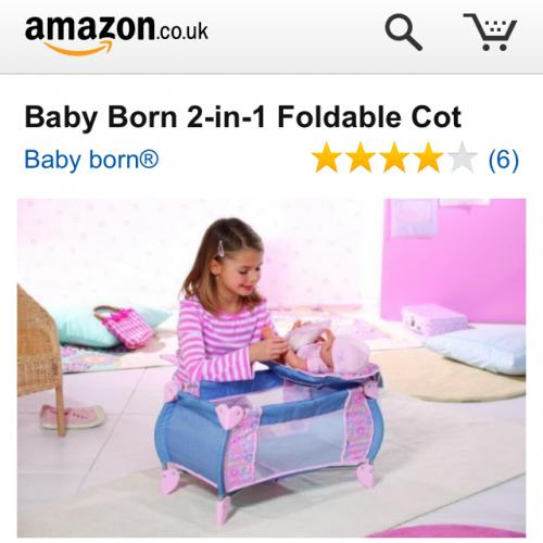 Baby Born 2 In 1 Foldable Cot 163 23 76 Del Amazon Hotukdeals