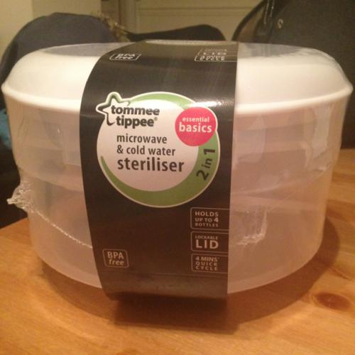 tommee tippee microwave steriliser instructions
