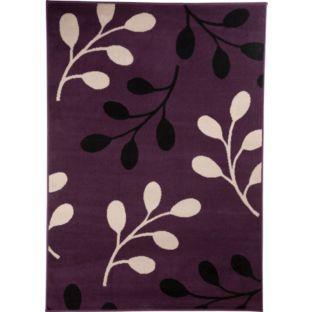 Maestro rug 230x160 argos was plum red black cream for Plum and cream rug