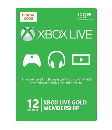Xbox Live 12 Months Plus $20 Xbox Live Gift Card $59.99