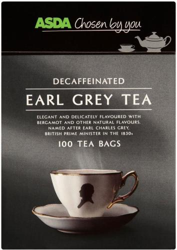 asda decaffeinated earl grey tea 100 bags instore. Black Bedroom Furniture Sets. Home Design Ideas