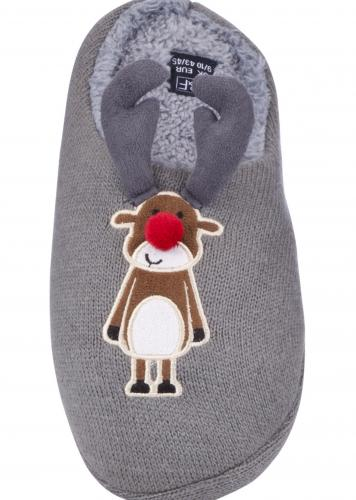 tesco mens reindeer slippers was 8 now with. Black Bedroom Furniture Sets. Home Design Ideas