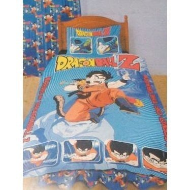 Official dragonball z bedding set duvet cover and pillow for Dragon ball z bedroom