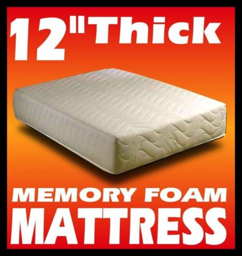 12 Thick Memory Foam Mattress 15 Year Guarantee Single Del Ebay Via Allextras1 Various