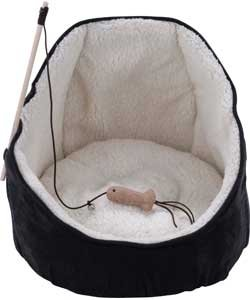 rspca cat bed cave style from argos less than half price. Black Bedroom Furniture Sets. Home Design Ideas