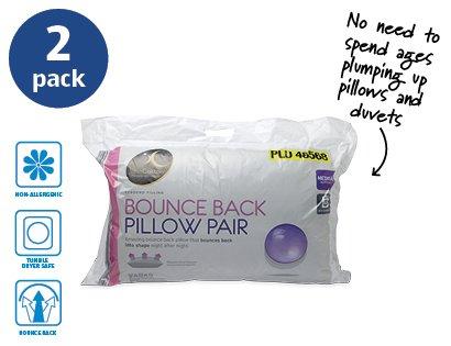 2 bounce back pillows for aldi starting sunday 05. Black Bedroom Furniture Sets. Home Design Ideas
