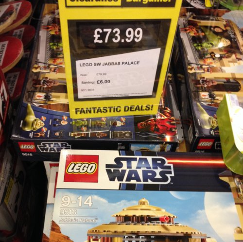 jabba 39 s palace lego set at argos clearance corby. Black Bedroom Furniture Sets. Home Design Ideas