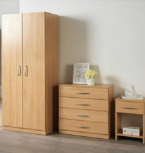 3 piece bedroom furniture beech white ash set inc del