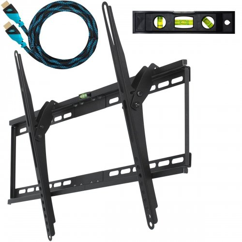 cheetah mounts aptmm2b tilt tv wall mount bracket for 32 65 inch led with hdmi cable newest. Black Bedroom Furniture Sets. Home Design Ideas