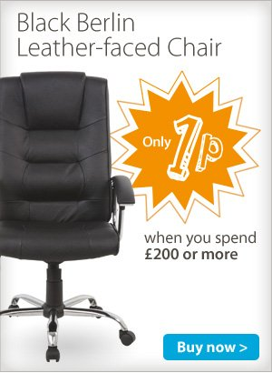 1p berlin leather executive desk chair over 200 spend viking hotukdeals - Viking office desk ...
