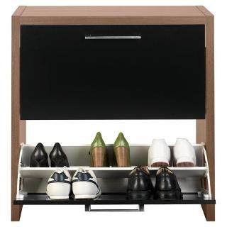 manhattan shoe storage walnut effect black gloss tesco. Black Bedroom Furniture Sets. Home Design Ideas