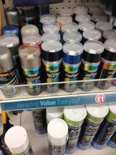 Hycote Double Acrylic Spray Paint Holts Autospray Many Brands Colors 1 Poundland Hotukdeals