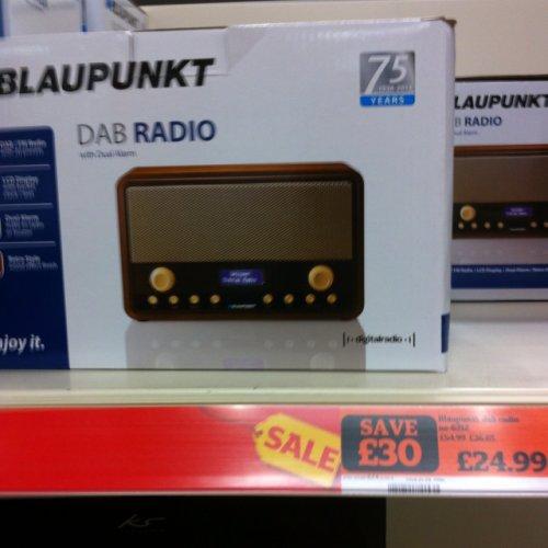blaupunkt dab radio with alarm less than half price sainsburys instore hotukdeals. Black Bedroom Furniture Sets. Home Design Ideas