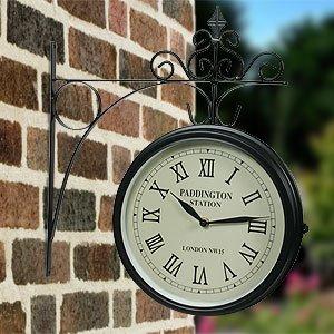 Paddington Double Sided Wall Clock Home Bargains 163 9 99