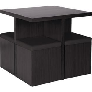 hygena boston spacesaver table and 4 chairs black