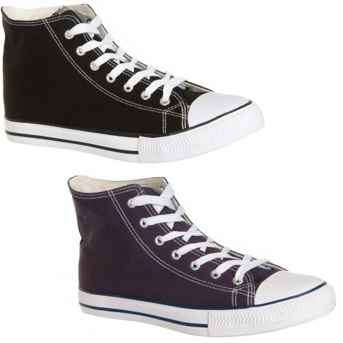 mens hi top baseball boots in black or blue 163 6 99 sold by