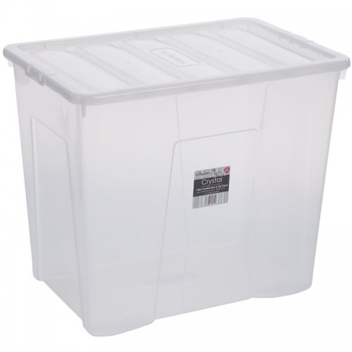 wham clear 160l storage box 2 pack for asda. Black Bedroom Furniture Sets. Home Design Ideas