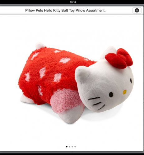 Squishy Mushy Argos : Pillow Pets Hello Kitty Soft Toy Pillow Assortment - ?9.99 @ Argos. - HotUKDeals