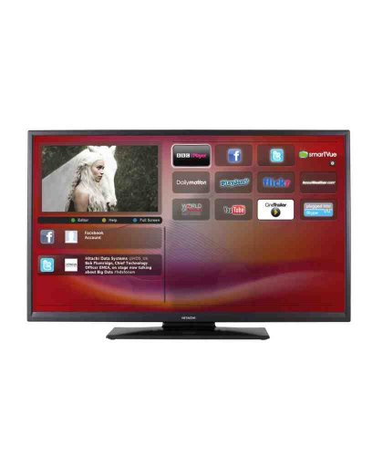hitachi 40 inch full hd 1080p freeview hd smart led tv. Black Bedroom Furniture Sets. Home Design Ideas