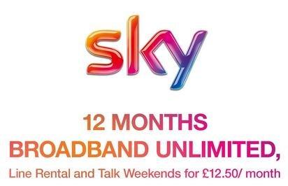 Broadband deals including line rental