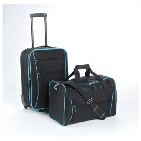 tesco 2 wheel suitcase holdall hand luggage set 15. Black Bedroom Furniture Sets. Home Design Ideas