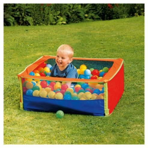 Tesco 39 out there 39 pop up ball pool pond reduced from 12 for Garden pool tesco