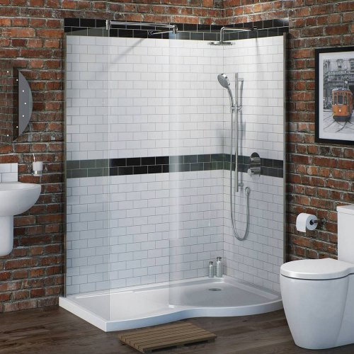 victoria plumb complete walk in shower enclosure kit. Black Bedroom Furniture Sets. Home Design Ideas