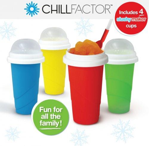 chill factor squeeze cup slushy maker 4 pack asda. Black Bedroom Furniture Sets. Home Design Ideas