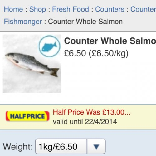 Salmon deals tesco