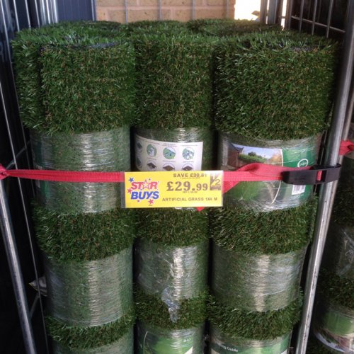 artificial grass home bargains in cwmdu. Black Bedroom Furniture Sets. Home Design Ideas