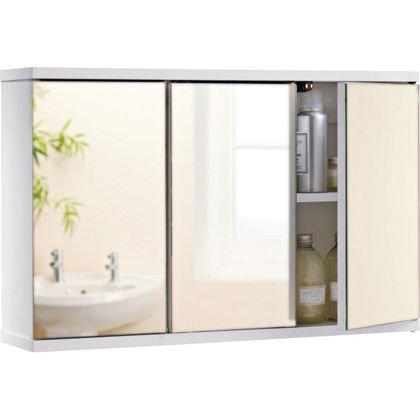 3 door mirrored cabinet homebase was now. Black Bedroom Furniture Sets. Home Design Ideas