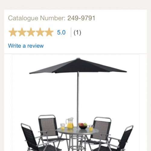 Hawaii garden furniture set 6 piece delivered at for Garden furniture set deals