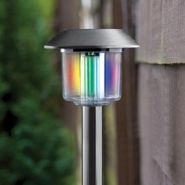 Stainless Steel 7 Colour Solar Light 163 1 Poundland