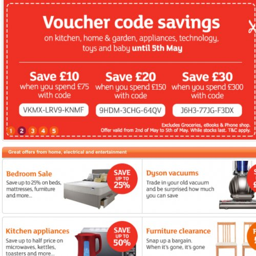 Sainsburys Furniture Clearance Sale