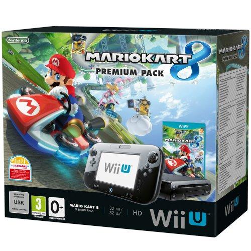Nintendo wii u mario kart 8 premium pack 32gb console bundle with