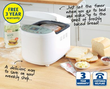 bread maker with 3 year warranty from 25th may at. Black Bedroom Furniture Sets. Home Design Ideas