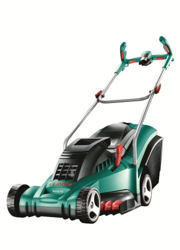 bosch rotak 43 ergoflex corded rotary lawnmower 43 cm. Black Bedroom Furniture Sets. Home Design Ideas