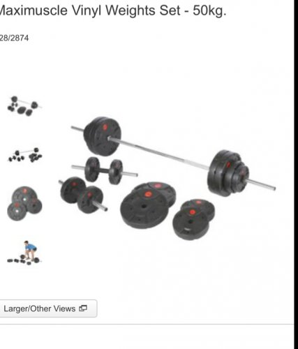 Maximuscle Vinyl Weights Set 50kg 163 49 99 Argos